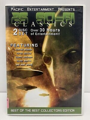 $8.95 • Buy Pacific Entertainment Presents 25 Sci-Fi Classics Science Fiction Collection DVD