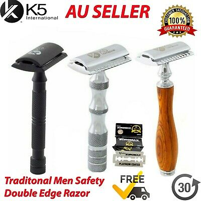 AU14.99 • Buy New Men Safety Razor Double Edge Blades Shaving Vintage Razors Shaver Shavette