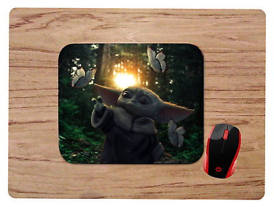 $10.99 • Buy BABY YODA MOUSEPAD MOUSE PAD HOME OFFICE GIFT STAR WARS THE MANDALORIAN Design3