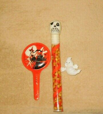$2.99 • Buy Vintage Halloween Novelty Lot   Unused Candy   Blow Mold  Tin Noise Maker  Old