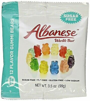 $21.99 • Buy SUGAR-FREE Albanese 12 Flavor Gummi Bears SIX PACK 3.5oz Bags FREE SHIPPING