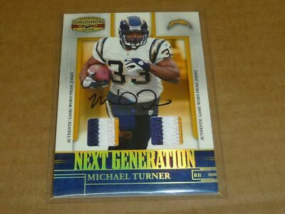 $14.99 • Buy 2007 Donruss Gridiron Gear MICHAEL TURNER AUTOGRAPH/AUTO JERSEY CHARGERS 1/3