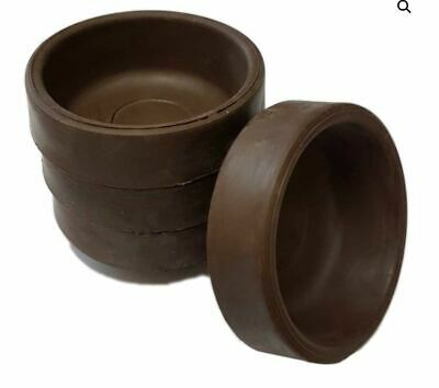 4 X Rubber Castor Cups + ANTI SCRATCH + Carpet/Wooden/Tile Floor Protector Small • 4.99£