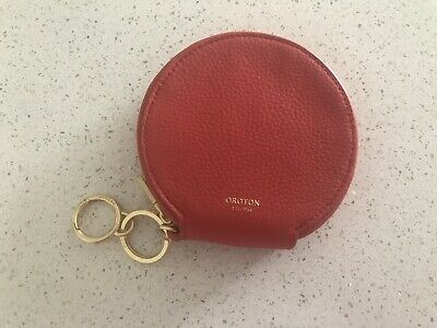 AU75 • Buy Oroton Round Coin Purse Card Holder Poppy Red