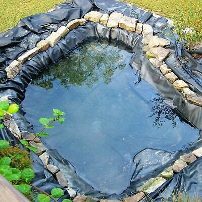 Fish Pond Liner Garden Pool HDPE Membrane Reinforced Multiple Sizes 200G/SM • 32.99£
