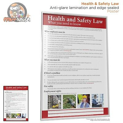 £5.99 • Buy Health And Safety Law Poster A2 A3 A4 (anti-glare Lamination & Edge Sealed)