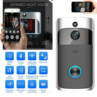 Wireless WiFi Video Doorbell Smart Phone Door Ring Intercom Camera Security Bell • 30.99£