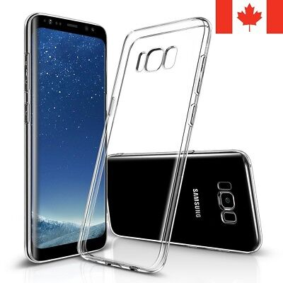 $ CDN4.95 • Buy For Samsung Galaxy S8 & S8 Plus Case - Clear Thin Soft TPU Silicone Back Cover