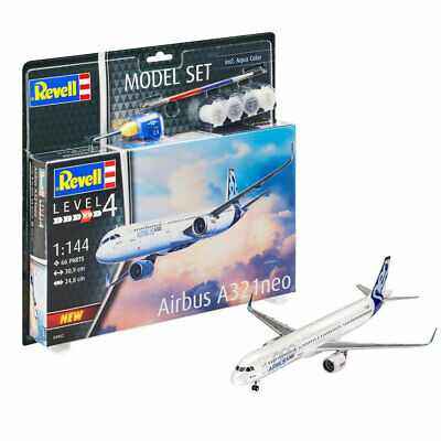REVELL 64952 Airbus A321 Neo Plane Model Set 1:144 Plastic Kit Paints & Glue • 24.95£