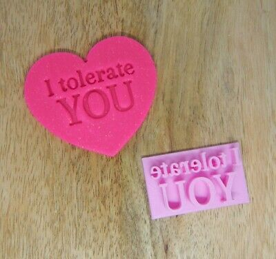 AU6.95 • Buy I Tolerate You Cooker Stamp Fondant Embosser Funny Anti Valentine's Day