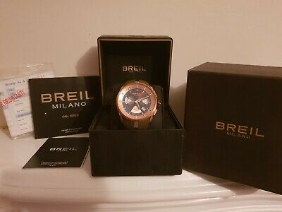 Gorgeous Breil Milano Unisex Watch - Brown Strap, Rose Gold Face - Barely Used! • 84£