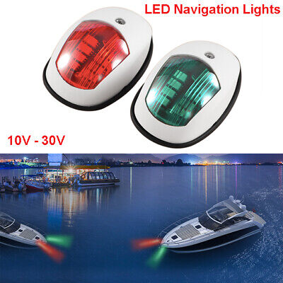 AU32.95 • Buy Marine Boat Yacht Port/Starboard LED Navigation Lights Green Red Side Light