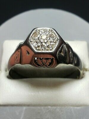 $250 • Buy 18K Solid White Gold .20 TCW Diamond Cluster Ring - Sz 9.25 ~FREE SHIPPING!!!~