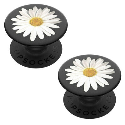 AU28 • Buy 2PK PopSockets White Daisy Swappable Universal PopGrip Holder W/ Base For Phones