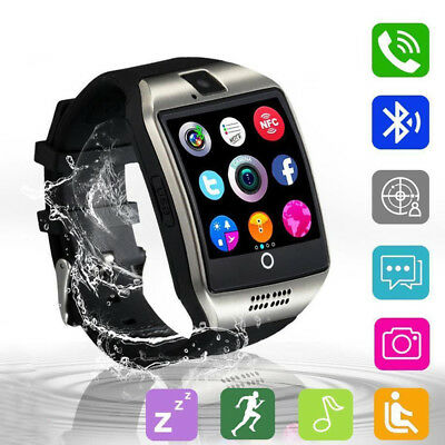 $ CDN13.17 • Buy Q18 Touch Screen Bluetooth Smart Watch Support TF SIM Card For Android Phone