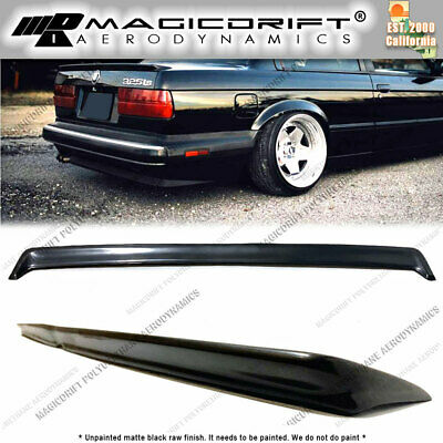 $79.40 • Buy BMW 3-SERIES E30 Polyurethane Rear Boot Trunk Deck Lid Lip Spoiler Wing SI Style