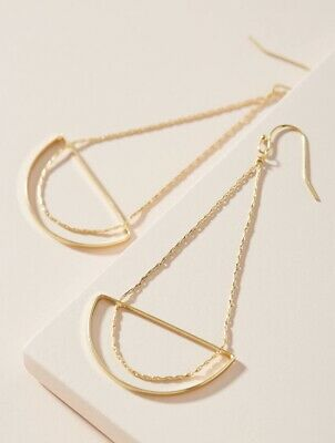 $ CDN56.84 • Buy NEW Anthropologie Carissa Drop Lightweight Earrings With Jewelry Bag / Sold Out!