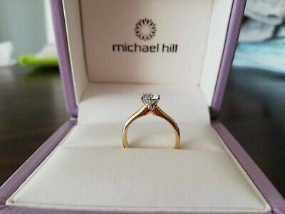 AU4850 • Buy Solitaire Diamond Gold Engagement Ring