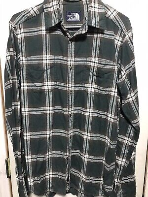 $59.99 • Buy The North Face Purple Label Men's Small Plaid Flannel Button Down Shirt Green