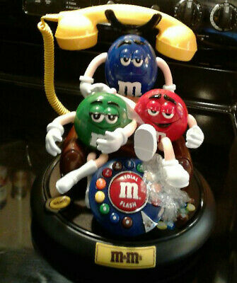 $300 • Buy M&Ms Red Green M&M Animated Telephone Lights Up And Talks When Phone Rings