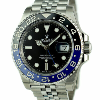 $ CDN22093.41 • Buy ROLEX Mens Stainless GMT Master II Blue Black Bezel CARD 126710 SANT BLANC