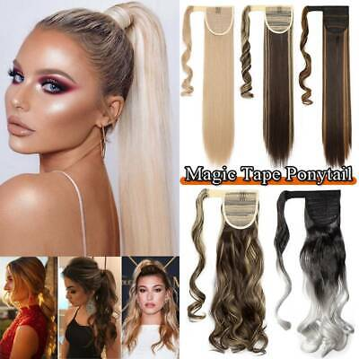 £9.50 • Buy UK Long Real Thick Clip In As Human Hair Extensions Pony Tail Wrap On Ponytail