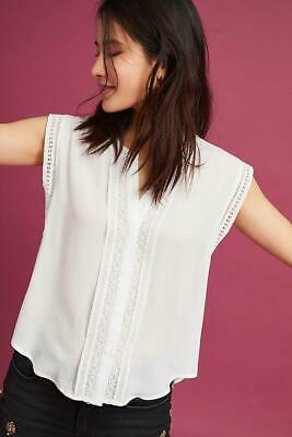 $ CDN40.81 • Buy (NWOT ANTHROPOLOGIE ERI + ALI IVORY BAYLEY LACE BLOUSE, Sz S)