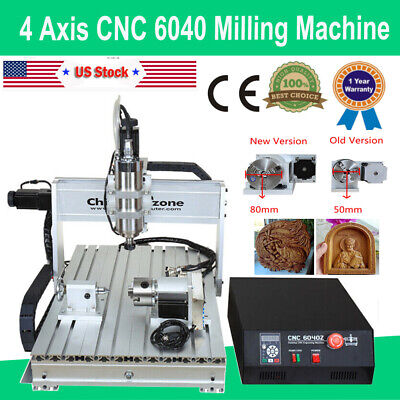 $1999 • Buy 4Axis CNC 6040 Engraver Mach3 USB Router Frame Cutting Milling Engraving Machine