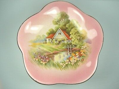 $ CDN25 • Buy Compote Dish Royal Winton Grimwades Red Roof Cottage Red Vintage
