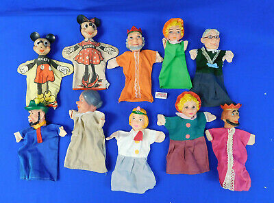 $119.99 • Buy Lot Of 10 Vintage Rubber Head Hand Puppets Mickey Mouse Mr Rogers