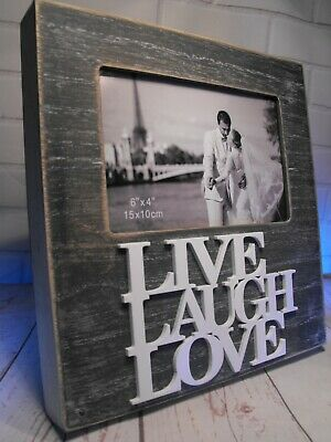 GIRLFRIEND  BOYFRIEND Lovers Love COUPLE LOVE LAUGH LOVE GREY PHOTO FRAME NEW UK • 11.95£