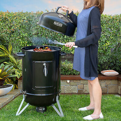 $154.95 • Buy 18  Inch Charcoal Bullet Smoker BBQ Grill Outdoor Vertical Portable Meat Cooker