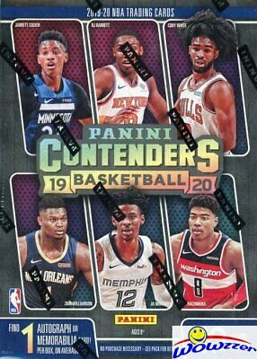 $44.95 • Buy 2019/20 Panini CONTENDERS Basketball EXCLUSIVE Sealed Blaster Box-AUTO/MEM