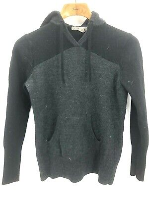 $33.05 • Buy Smartwool Womens Large Merino Wool Hooded Zip Cardigan Sweater Jacket Black