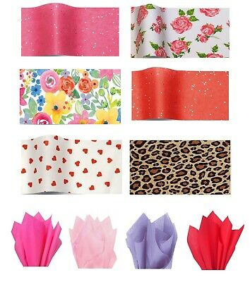 £2.25 • Buy Sparkly Red Love Hearts Valentines Day Tissue Paper Wrapping Gift Sheets 50x75cm
