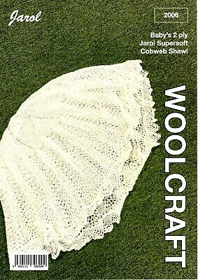 JAROL Knitting Pattern 2006 2Ply Cobweb Shawl • 3.50£