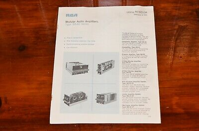 $19.99 • Buy RCA BROADCAST Audio Amplifiers Brochure Specifications BA-40, 41, 43, 44, 48 Vtg