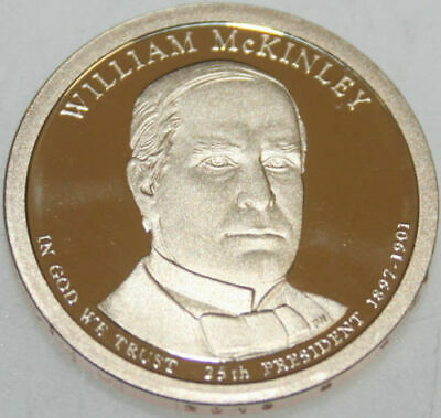 $6 • Buy 2013-S Presidential Dollar Proof William McKinley WM Golden Nice No Problem Coin