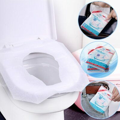 £0.99 • Buy 50 Disposable Toilet Seat Covers Camping Festival Loo Paper Pocket Size Tissue