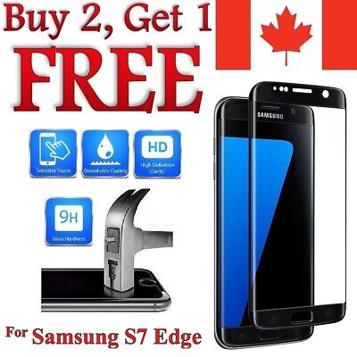 $ CDN6.95 • Buy 3D Curved Tempered Glass Screen Protector For Samsung Galaxy S7 / S7 Edge