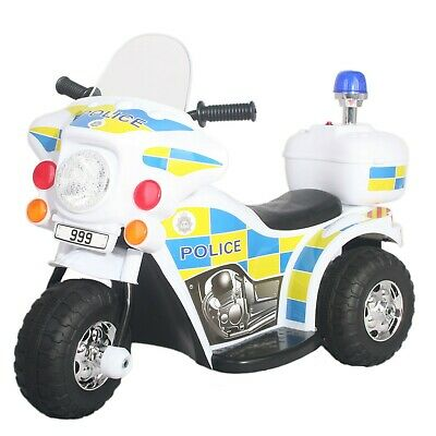 KIDS@PLAY Ride-On Police Bike 6V Battery Powered Age 18months+ BRAND NEW  • 44.99£