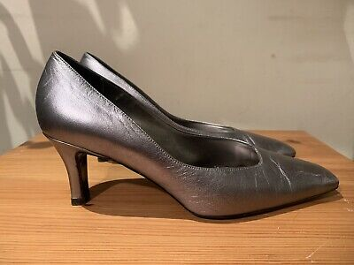 Women's / Ladies Carvela Leather Court Shoes In Pewter / Silver Size 39 / 6 • 15£