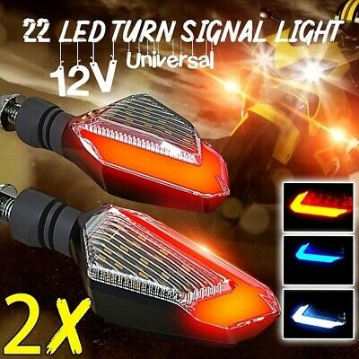 2x 24LED Mini Motorcycle Motorbike Turn Signal Lights Indicators Amber Lamp 12V • 5.99£