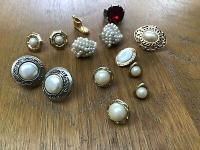 Job Lot Vintage Costume Jewellery Bits And Bobs Earrings Curios • 5.50£