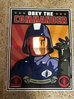 $ CDN138.33 • Buy Poster Gi Joe Fan Club Fun Publications Cobra Commander Adventure Team Obey The
