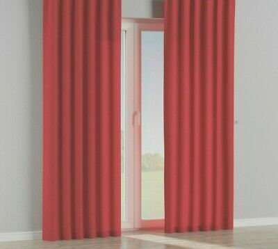 Spice Warm Red 100% Cotton Canvas Curtains 66  X 72   Tab Top   • 19.99£