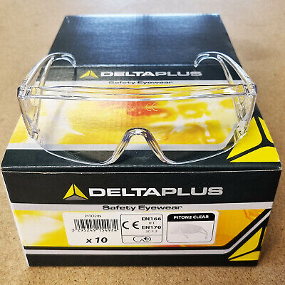 £5.09 • Buy Safety Glasses Clear Lens Specs Sports Style Anti Scratch UV400 Protection PPE