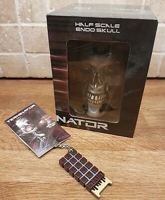 Loot Crate Terminator Genisys Half Scale Endo Skull Replica And Metal Keyring • 17£