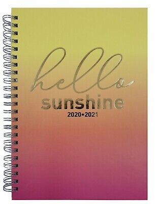 2020 2021 A5 Size Academic Mid Year Week To View Student Teacher Diary W7 • 2.99£
