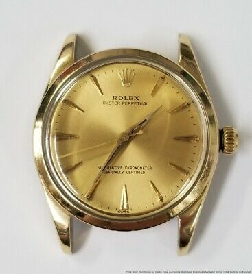 $ CDN1334.49 • Buy 14k Gold Capped Rolex Oyster Perpetual Mens Vintage Watch Head Only